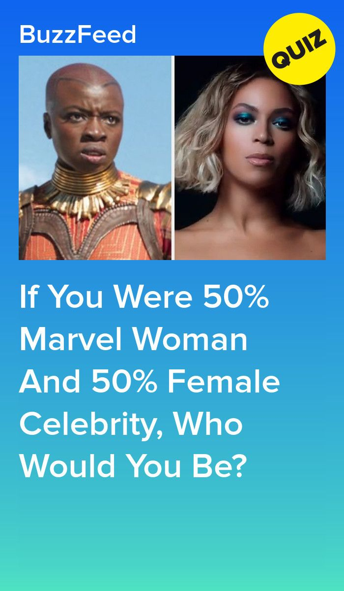 If You Were 50% Marvel Woman And 50% Female Celebrity, Who