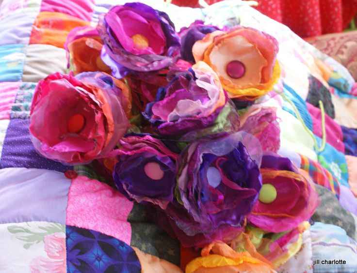 new pop flowers made by Jill Charlotte
