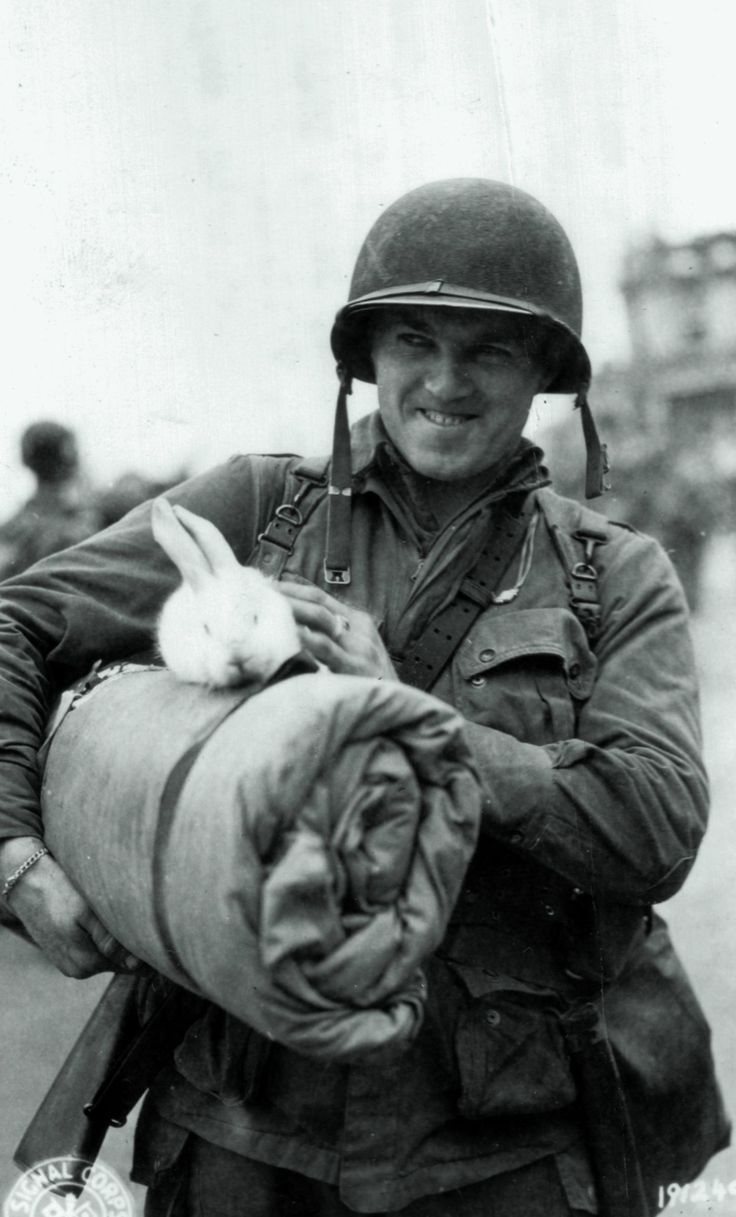 O To Ww Bing Com25 30: Corp. Michael Deliman,Returns From France With Rabbit