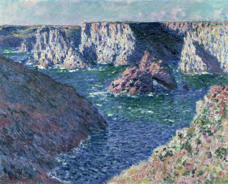 """claudemonet-art: """"Rocks at Belle-Ile, 1886 Claude Monet """""""