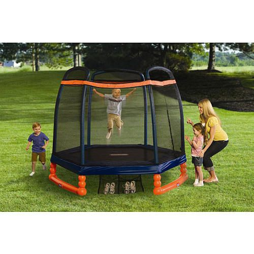 "Little Tikes First Trampoline with Safety Enclosure - 7 foot - Little Tikes - Toys ""R"" Us"