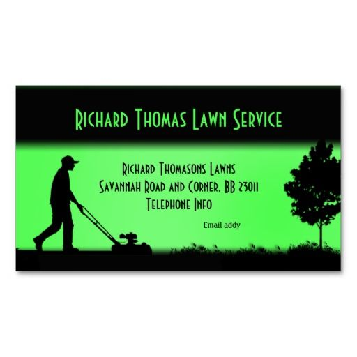 Lawn Service And Landscape: 15% Off All Orders & 50% Off Business Cards! Lawn Service