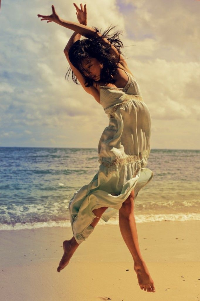 beach ballet blue dress