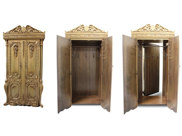 Wardrobe passageway. Entrance to secret marina (lion witch and the wardrobe) reading book or playroom for children.