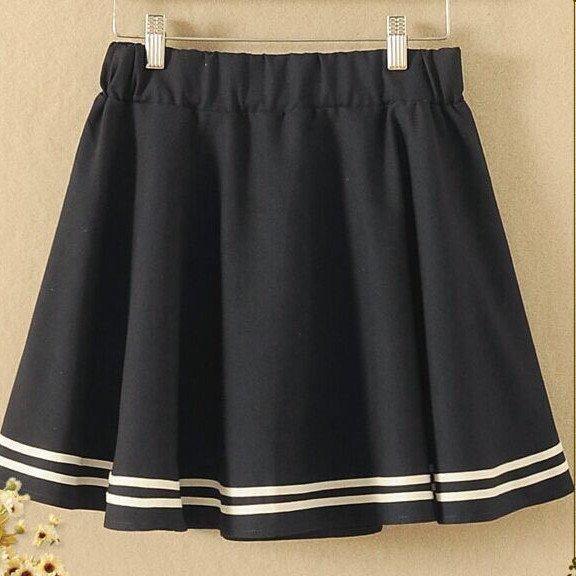 Japanes Black School Uniform Skirt SD00369 - SYNDROME - Cute Kawaii Harajuku Street Fashion Store