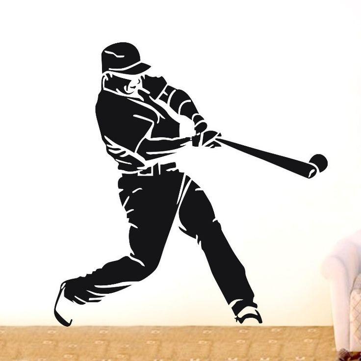 Бейсбол Стикер Конская Наклейки Плакаты Стены Винила Переводные Картинки Parede Росписи Декора Бейсбол 2094 19 Цвет Выбрать Бейсбол Стикер