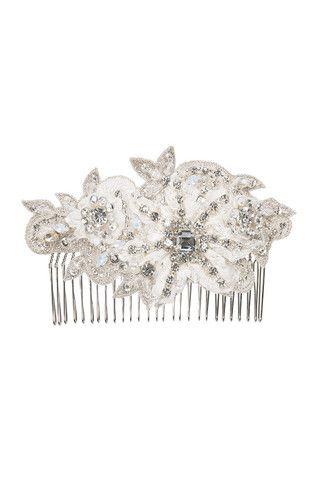Debonair Comb I Crystal Ivory