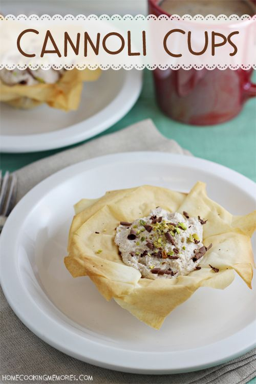 Check Out Easy Cannoli Cups Dessert It 39 S So Easy To Make