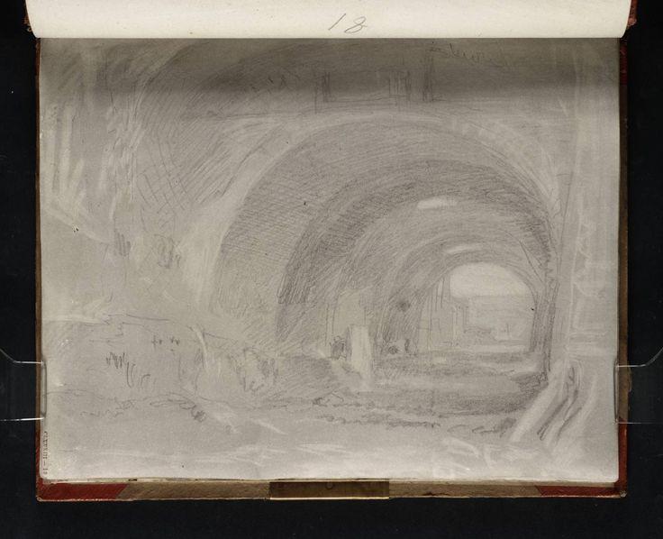 Turner, 'The Via Tecta beneath the Santuario di Ercole Vincitore', 1819, graphite on paper.