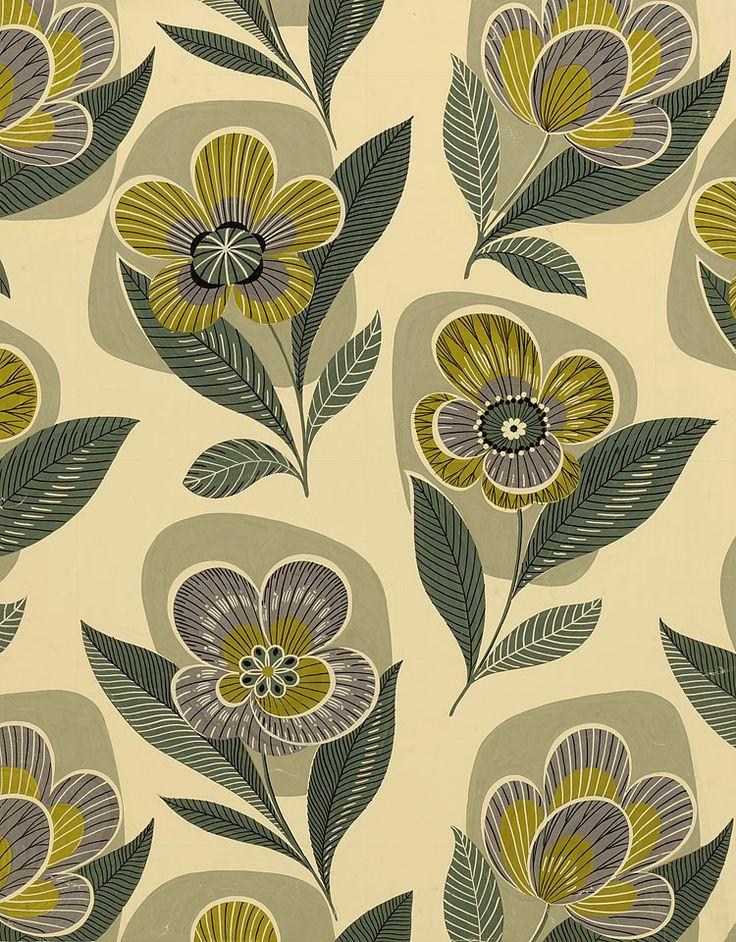 1950s pattern flowers pattern pinterest flower. Black Bedroom Furniture Sets. Home Design Ideas
