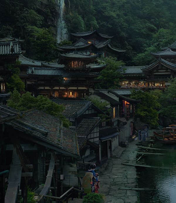 Japanese Village (+WIP) on Behance