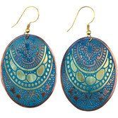 Etched Medallion Earrings