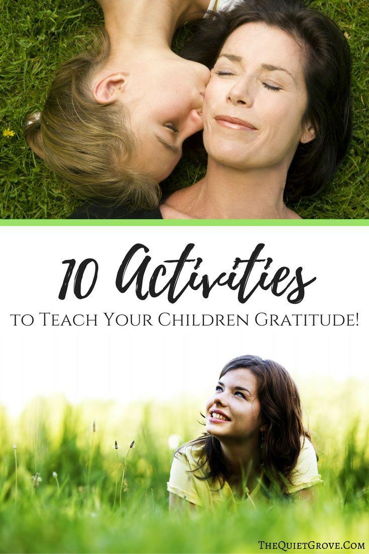 10 Activities to teach your children Gratitude