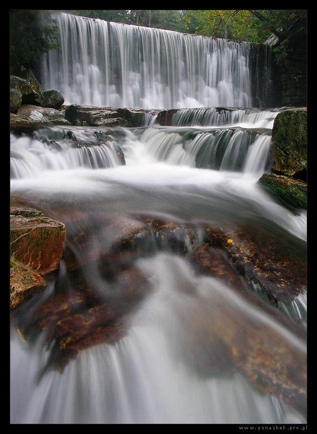 Wild River SE by ~yonashek on deviantART  Wild Waterfall in Karpacz / Poland