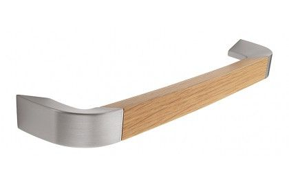 H962.192.SSOA - Oak and Stainless Steel Effect D Handle