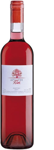 Driopi Rose  Origin - Type: Dry rose wine - Protected Geographical Indication Peloponnese  Grape Variety: 100% Agiorgitiko - Our price, DKK 115 (incl. moms)