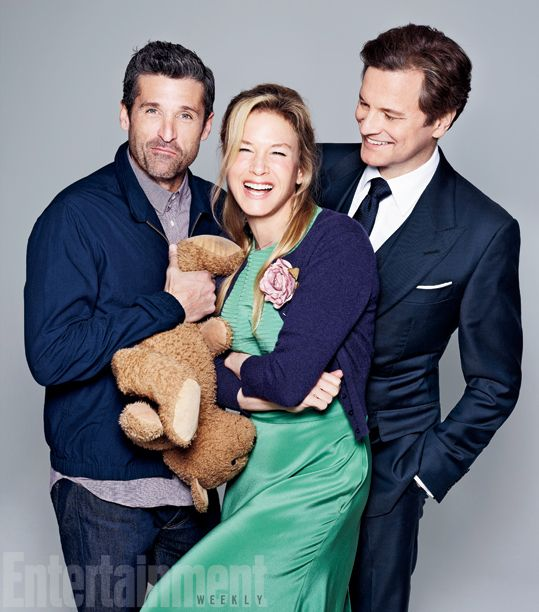 BRIDGET JONES'S BABY (2016) ~ Photo of Patrick Dempsey, Renee Zellweger, and Colin Firth from ENTERTAINMENT WEEKLY's December 31, 2015 issue photo gallery.