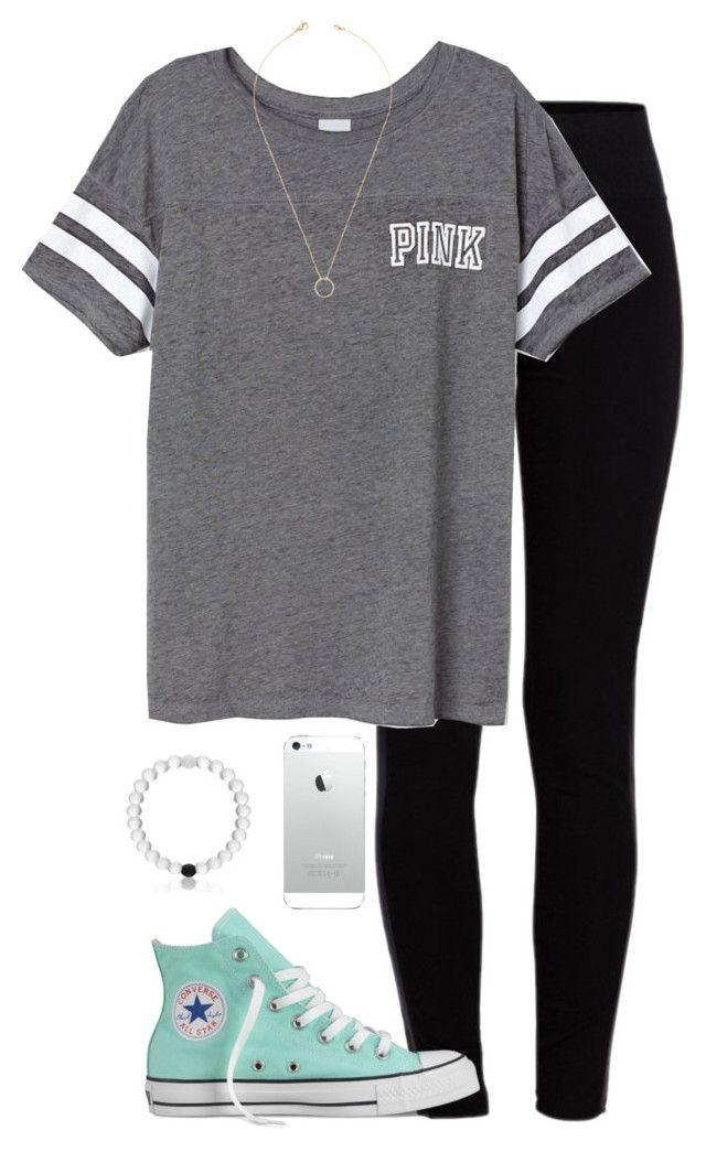 """""""i'm obsessed with grey's anatomy :)"""" by morganburleigh ❤ liked on Polyvore featuring Pieces, Victoria's Secret PINK, Converse and Jeweliq"""