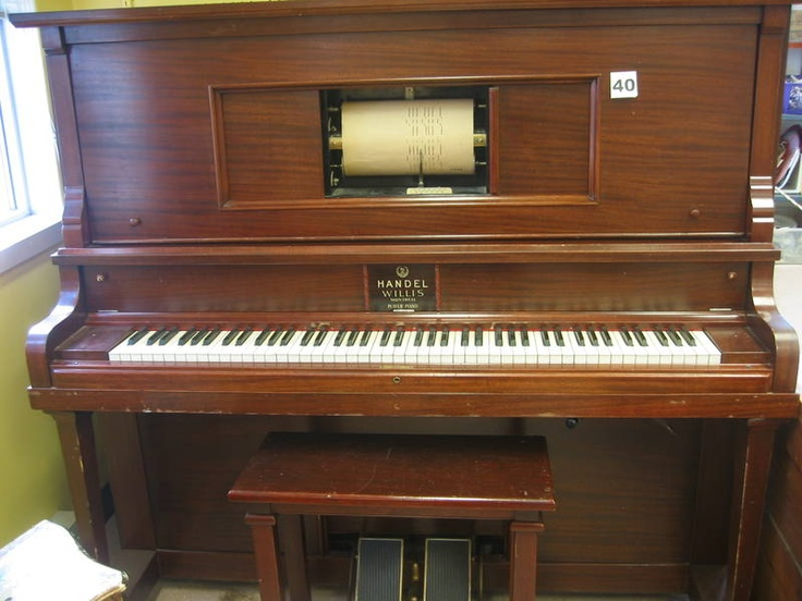 The current ReUstore auction includes a beautiful Handel Willis player piano. The player aspect is not in working order but the piano plays well. Also includes boxes of music rolls.  Visit The ReUstore Saturday, March 24th, 2012 at 12pm when bidding goes live and the auction closes.  For more information visit www.ccs4u.org or call 905-857-7824