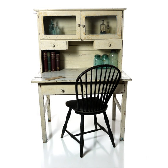 WISH LIST!!    Antique Hutch Cabinet Kitchen Apothecary by DailyMemorandum, $450.00