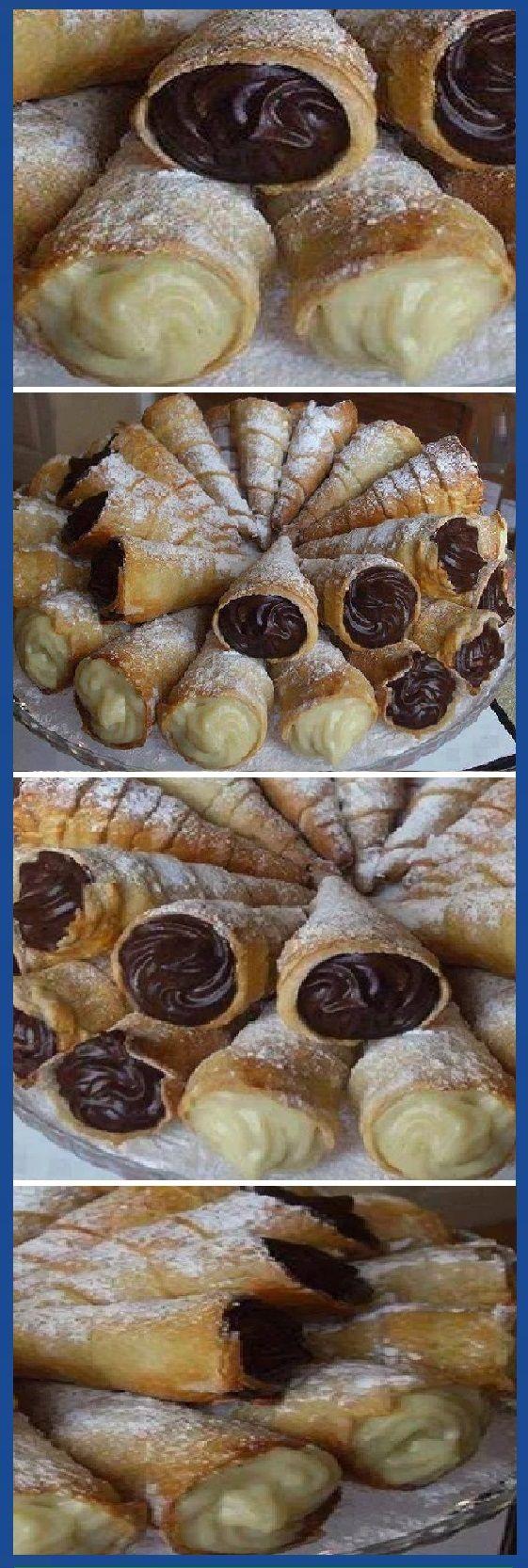 Los Mejores CONOS DULCES del Mundo Rellenos de CHOCOLATE Y VAINILLA! #conos #dulces #conoschocolate #conosvainilla #vainilla #cheesecake #postres #dulces #tips #cake #pan #panfrances #panettone #panes #pantone #pan #recetas #recipe #casero #torta #tartas #pastel #nestlecocina #bizcocho #bizcochuelo #tasty #cocina #chocolate Si te gusta dinos HOLA y dale a Me Gusta MIREN …
