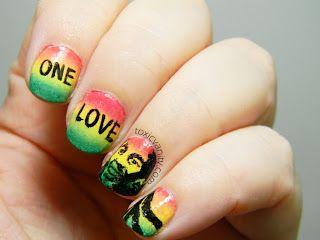 Manicura rasta | Bob Marley nail art | Toxic Vanity