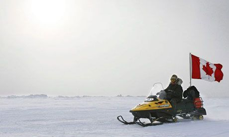 A Canadian ranger making a patrol on Ellesmere Island, part of the country's existing Arctic territories. Photograph: Jess Mcintosh/AP