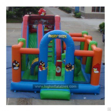 Inflatable angrey bird slide-1