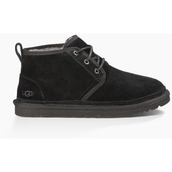 Ugg Neumel Suede Boots ($130) ❤ liked on Polyvore featuring men's fashion, men's shoes, men's boots, mens suede shoes, ugg mens boots, mens chukka shoes, mens shoes chukka boots and mens suede chukka boots