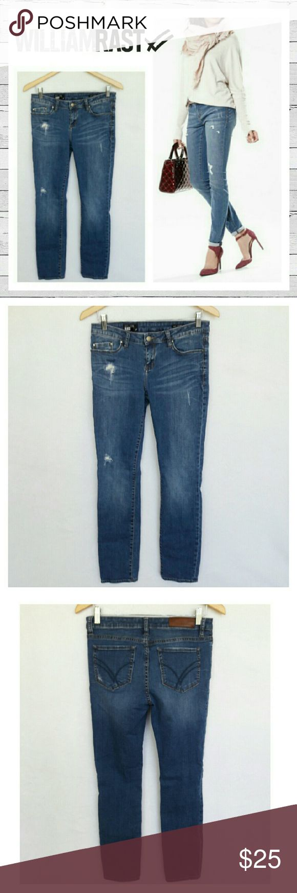 """William Rast Distressed Skinny Ankle Jeans Sz 28 William Rast Distressed Skinny Stretch Ankle Jeans Sz 28. Excellent like new condition. 28 1/2"""" inseam. 8"""" rise. Super cute! Sorry no trades. William Rast Jeans Skinny"""