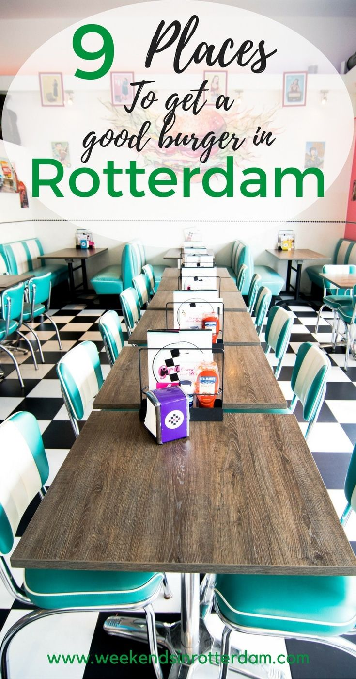 In this post we share 9 places to get a good burger in Rotterdam, such as Burgertrut, Ter Marsch & co, Pickles, De Burgerij, Holy Smoke, Ellis Gourmet Burger, Encore Bar & Grilll, Hamburg and Gracy's. Some of these restaurants also have vegan burgers or vegetarian burgers. Burger tents in Rotterdam #rotterdam #burgers