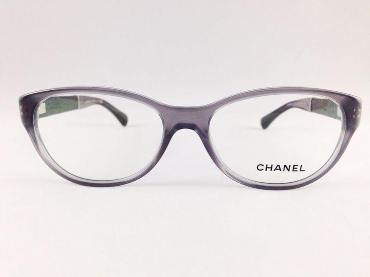 Authentic Chanel Eyewear Optical Glasses 3309-Q Gray/Leather Eyeglasses #Chanel #Rectangular #glasses #optical #brands #eyewear #eyeglasses #frames