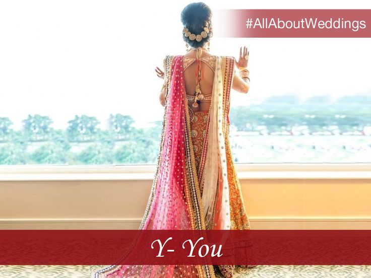 So your big day is here! Remember, the memories that you make are for you and your better half to cherish! Revel in the moment without losing your vision for the day. #AllAboutWeddings