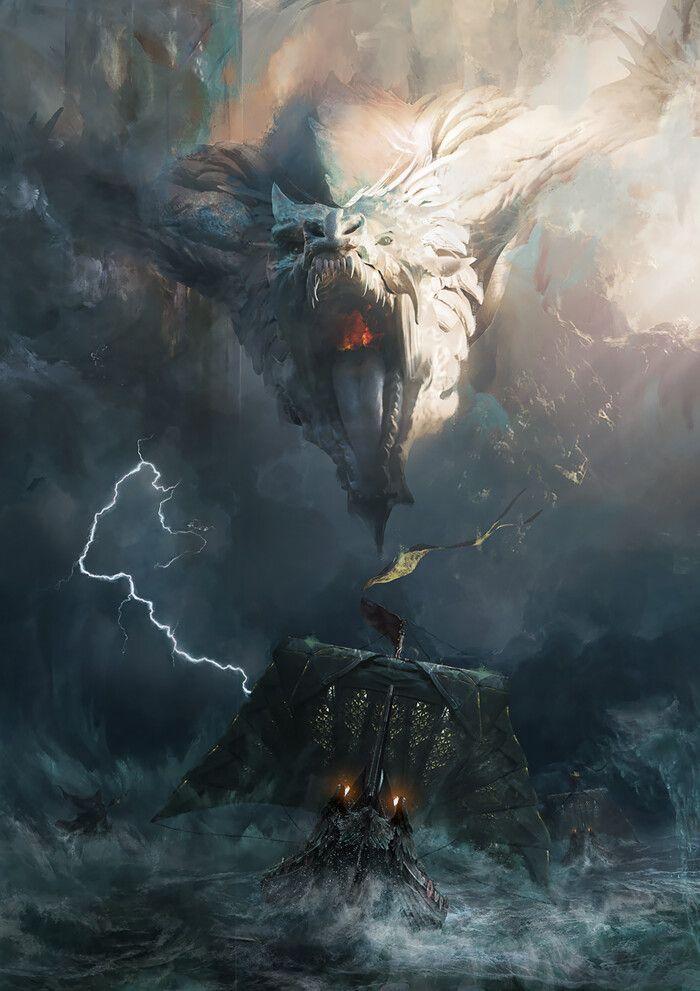 Artstation Norse Trilogy Cover 3 Adam Burn Fantasy Landscape