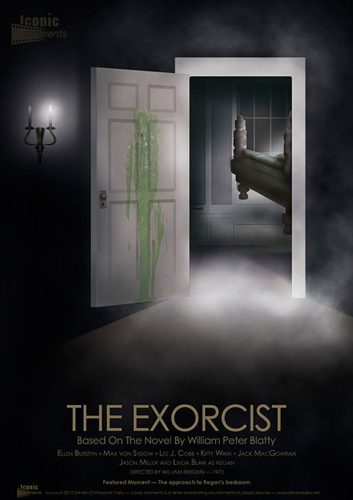 Iconic moments The Exorcist - door open - Created by Steven Parry - www.stevenparry.net