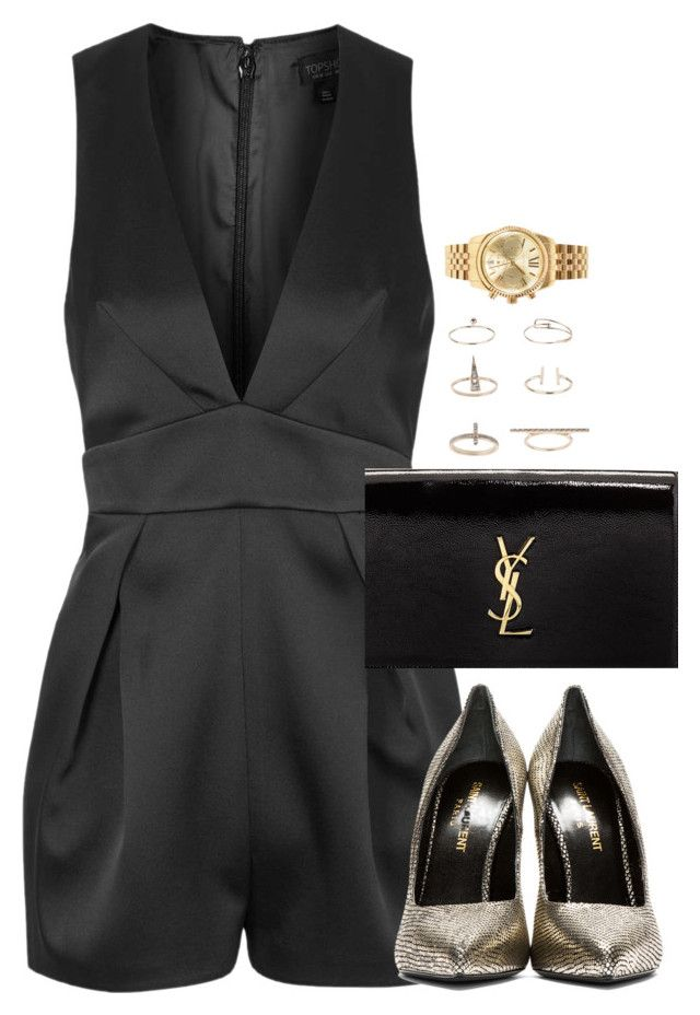 """Unbenannt #1979"" by luckylynn-cdii ❤ liked on Polyvore featuring Topshop, Yves Saint Laurent and Michael Kors"