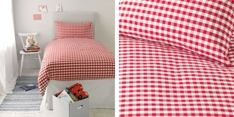 Gingham Bed Linen - Red