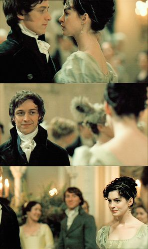 "Because I am a complete Jane Austen Dork:: Dancing scene from ""Becoming Jane."" LOVE THIS SCENE. I hold my breath!"