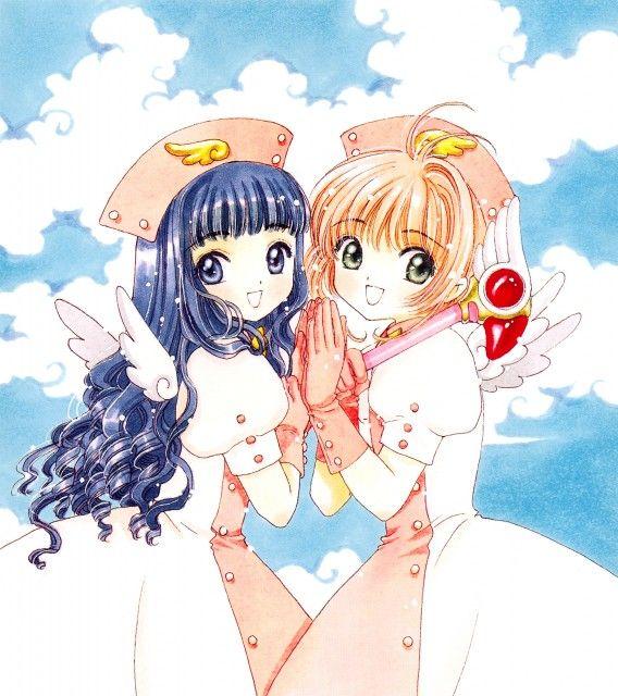 Tomoyo and Sakura from Cardcaptor Sakura