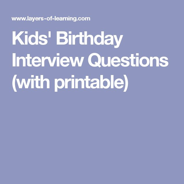 Best 25+ Birthday Interview Questions Ideas On Pinterest