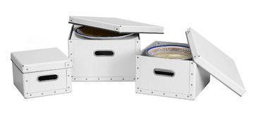 Cargo Moderne Dinnerware Storage Boxes, Set of 3 transitional-dinnerware-and-stemware-storage