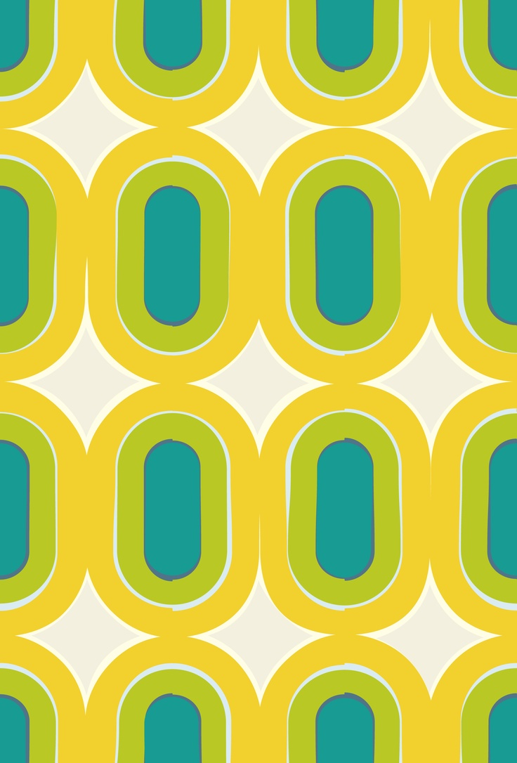 Love flower power daisy graffiti print cotton fabric 60s 70s retro -  Vintage Print Pattern Design