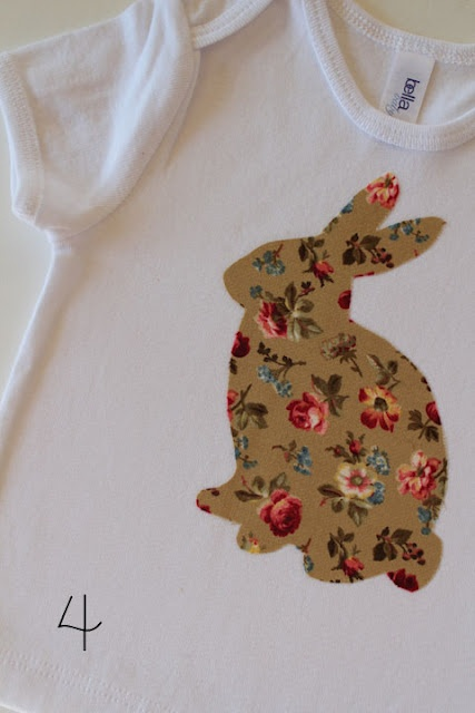 bunny template for crafts or applique