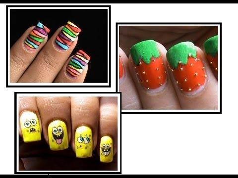 3 Nail Designs For Kids! Dresslink To Do At Home Youtube Easy Do It Step