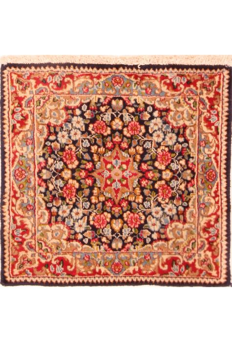 Kerman Persian rug. Wool. Hand Knotted. 51 x 51 http://www.rugman.com/persian-kerman-design-oriental-area-rug-small-size-wool-multi-color-square-253-26328