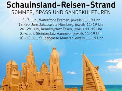 Sandcity auf Sommertour mit Schauinsland-Reisen: chillen am Strand, Cocktails, spielen im Sand, Workshops und unsere wunderschönen Sandskulpturen genießen ...  #bremen #nürnberg #essen #hannover #münster #schauinsland #dubai #sandskulpturen #sommer #strand #sandcity
