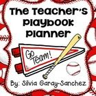 Do you have a baseball or sports theme going on in your classroom?  Or do you simply love baseball?  Then this teacher planner is for you!  This fil...
