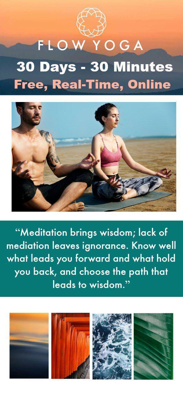 Vinyasa Flow Yoga for Beginners. 30 day yoga challenge. Free yoga videos online. Real time workouts. #yogachallenge