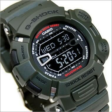 Casio G-Shock Mudman Green with inverted display