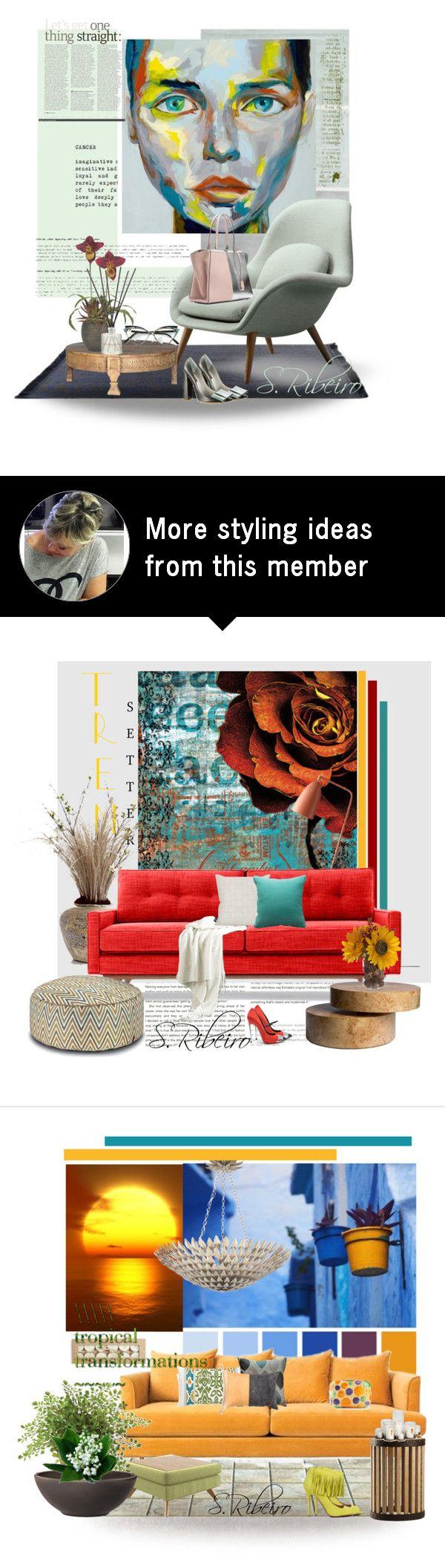 """Sem título #3311"" by sribeiro on Polyvore featuring interior, interiors, interior design, home, home decor, interior decorating, WALL, Jaipur Living, Fendi and Connock London"